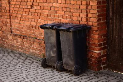 Maden in Ihrer Mülltonne können Sie mit Kalk bekämpfen.