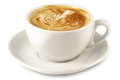 Erst gemütlich Cappuccino getrunken, danach die Kaffeemaschine entkalkt!