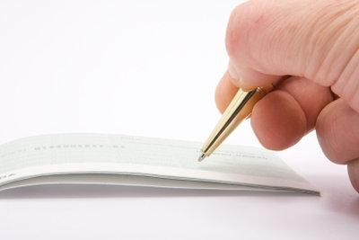Die Unterschrift ist das Wichtigste beim Travellerscheck.