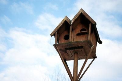 Ein Vogelhaus bietet heimischen Vögeln im Winter Nahrung.