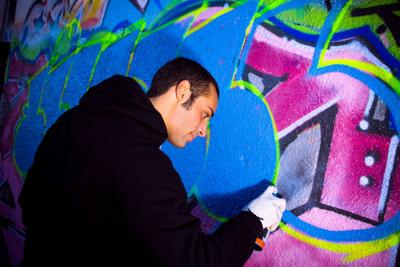 Graffitis zeichnen klappt mit etwas Übung.