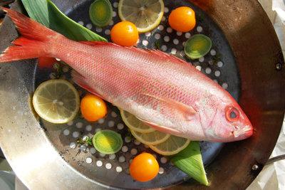 Red Snapper kann in der Pfanne mit frischer Zitrone zubereitet werden.