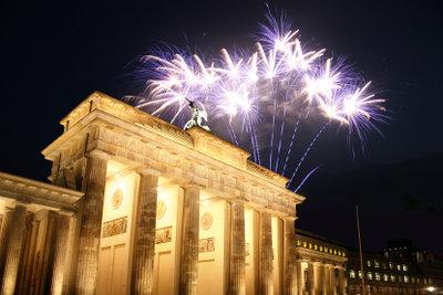 Das Silvesterfeuerwerk am Brandenburger Tor ist ein beliebtes Fotomotiv.