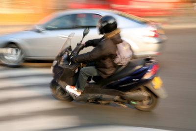 Auch mit einem Motorroller gesammelte Punkte können Sie in Flensburg einsehen.
