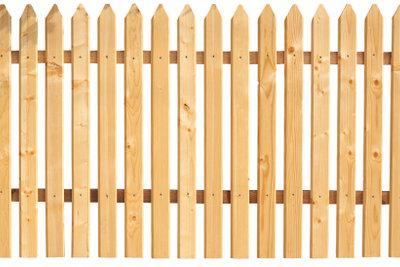Ein Holzzaun ist schnell gebaut.