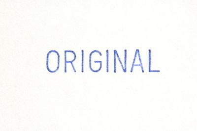 Bringen Sie das Original zur Beglaubigung mit!