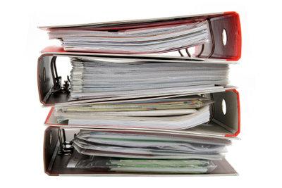 Bringen Sie Ordnung in Ihre Unterlagen.