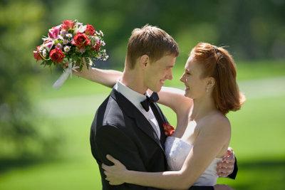 Natürlich passt das Brautpaar gut zusammen!