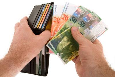 Euro können Sie gebührenfrei in Schweizer Franken wechseln.