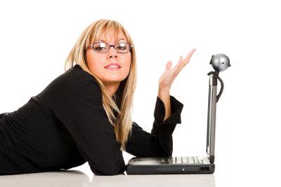 Ganz bequem online mit einer Webcam chatten.