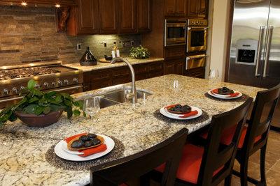 Rostflecken auf empfindlichem Granit beeinträchtigen die Ästhetik.