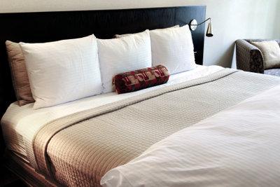 Amerikanische Betten sind sehr kuschelig und gemütlich.