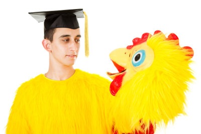 Ein Hühnerkostüm lässt sich noch in letzter Minute basteln.