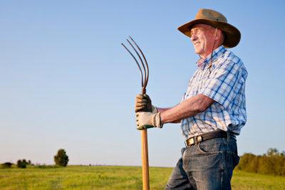 Hut, Forke, Arbeitshandschuhe: Das brauchen Sie für ein Karnevalskostüm als Bauer.