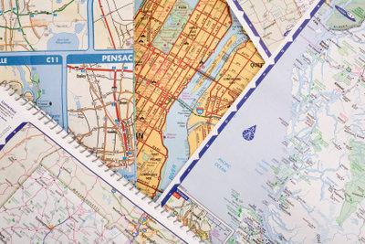 Jede Karte hat einen eigenen Maßstab, mit dem sich Entfernungen berechnen lassen