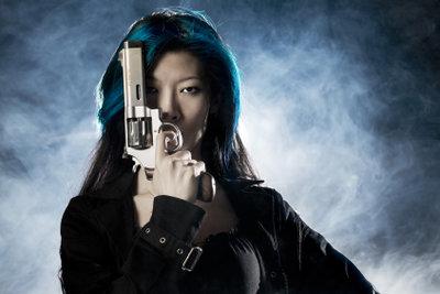 Blaue Bohnen und blaues Haar für die Mafiabraut.