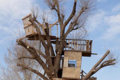 Ein Wunsch fast aller Kinder - das Baumhaus.