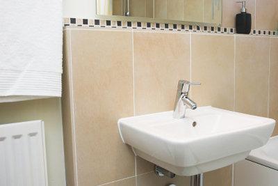 Ein ordentlich montiertes Waschbecken ist gut anzusehen.
