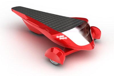 Ein kleines Solarauto lässt sich leicht selbst bauen.