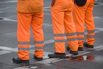 Müllwerker - im Dienste der Sauberkeit unterwegs.