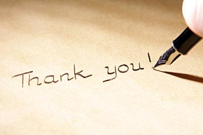 Danke im Voraus - immer eine sinnvolle Geste.