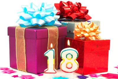 Der 18. Geburtstag - hier finden Sie kreative Geschenkideen.