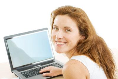 Das Lächeln bedeutet: Ich zeige Ihnen gern, wie Sie das Kontrastverhältnis am Monitor einstellen.
