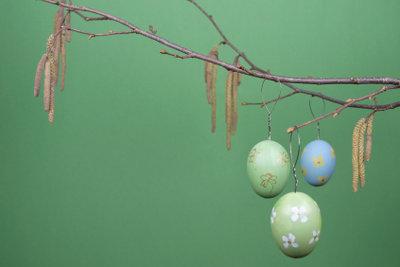 Wenn Sie die Zweige rechtzeitig schneiden, blühen sie püntklich zu Ostern.
