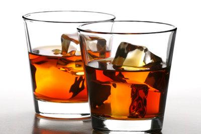 Typisch amerikanisch: Whiskey on the rocks.