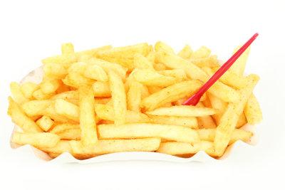 Frittiert ohne Fett - so können Pommes frites dann auch aussehen.