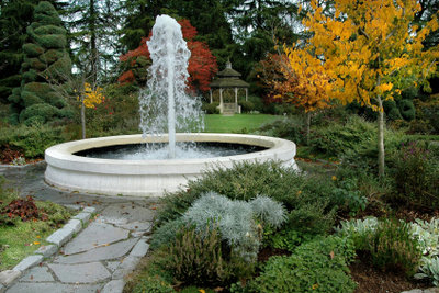Ein Springbrunnen ist ein echter Hingucker.