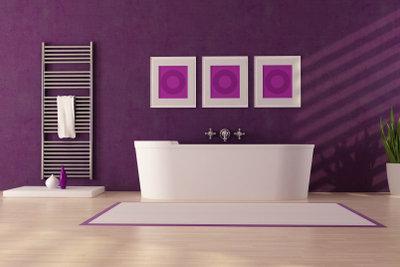 Vorsicht ist geboten wenn Sie PVC im Bad verlegen.