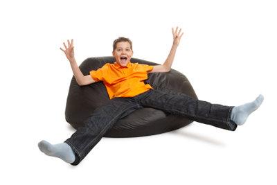 Ein Sitzsack ist nicht nur bequem, sondern auch perfekt für Kinder!