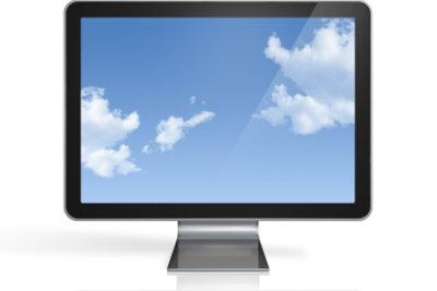 Ein moderner Fernseher mit Festplatte.