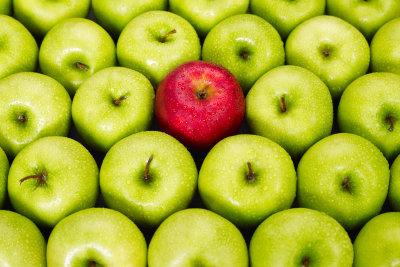 Die Apfel-Diät ist lecker.