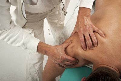 Nach intensiver Physiotherapie können Schmerzen auftreten.