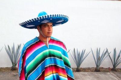 Ein typisch südamerikanischer Poncho.