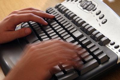 Tastatureinstellungen können die Sprache umstellen.