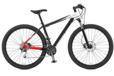 Fahrradreifen mit einem Kompressor vorsichtig aufpumpen