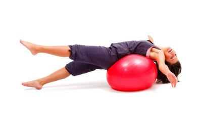 Ein Ball kann als Hindernis für die Flugrolle dienen.