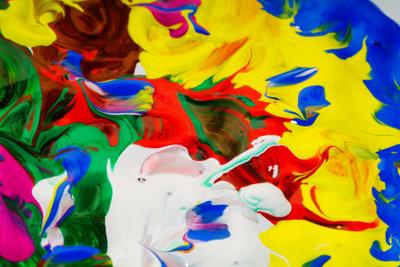 Die Acrylmalerei ermöglicht viele kreative Techniken.