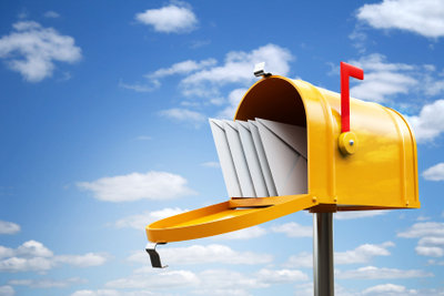 Die Post in der Schweiz lagern.
