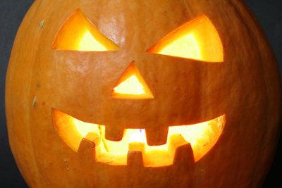 Kein Halloween ohne Gruselkürbis.