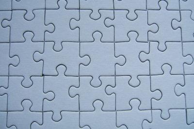 Ein Puzzle als dekoratives Bild.