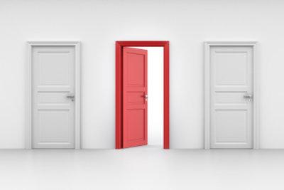 Auch eine Tür kann gedämmt werden.