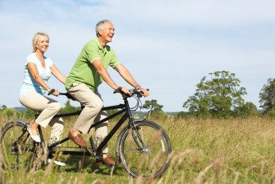 Beim Fahrradfahren die Knie schonen.