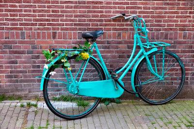 Ältere Fahrräder haben oft keinen Nabendynamo.