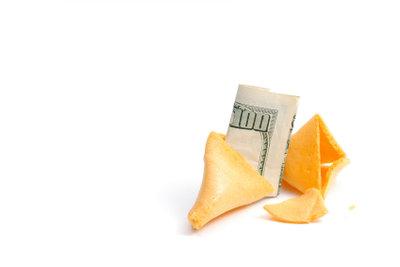 Durch Glück kann man reich werden.
