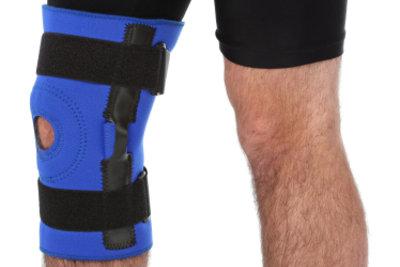 Kniebandagen geben dem Knie Halt.