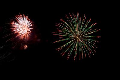 Feuerwerke bewundern ist schönstes Silvestervergnügen.